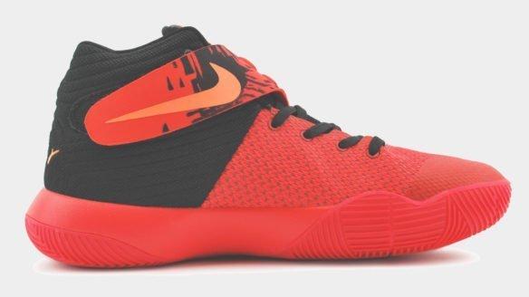 Nike Kyrie 2 красные с черным