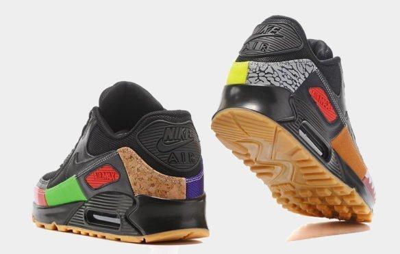 Фото Nike Air Max 90 (Atmos Safari Black) черные - 3