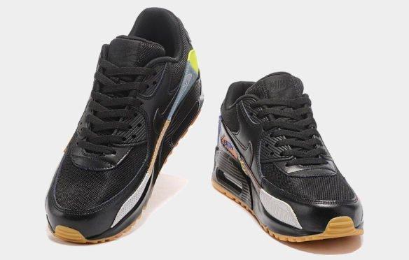Фото Nike Air Max 90 (Atmos Safari Black) черные - 1